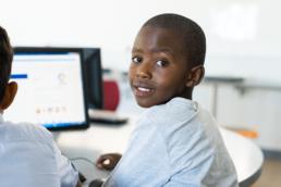 Child at computer